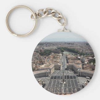 St. Peter's Square from Rome in Vatican State Keychain