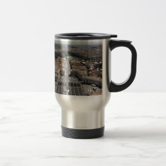 St. Peter's Square from Rome in Vatican State Travel Mug