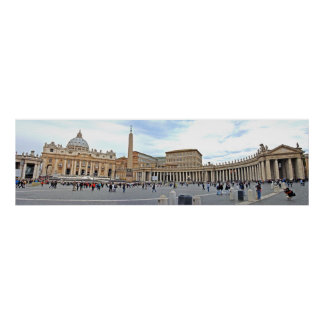 St. Peters Square in Vatican City Panoramic Photo Print