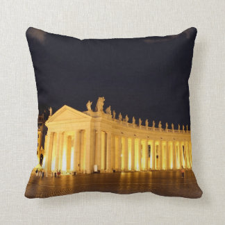 St Peters Square roman columns in the evening Throw Pillows