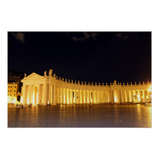 St Peters Square roman columns in the evening Poster