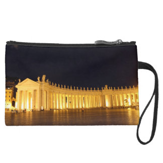 St Peters Square roman columns in the evening Suede Wristlet