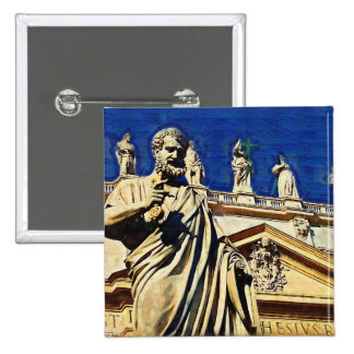 St Peter's Square Rome Button