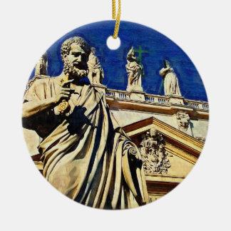 St Peter's Square Rome Ceramic Ornament