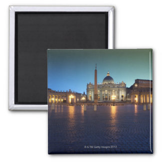 St Peters Square, Rome, Italy 2 Inch Square Magnet