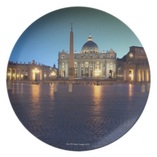 St Peters Square, Rome, Italy Dinner Plate