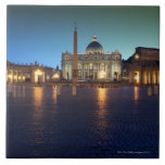 St Peters Square, Rome, Italy Large Square Tile
