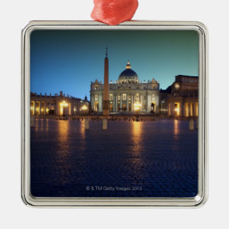 St Peters Square, Rome, Italy Metal Ornament