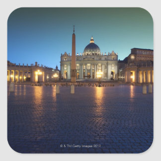 St Peters Square, Rome, Italy Square Sticker