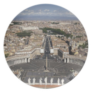 St Peters Square, Rome Party Plate