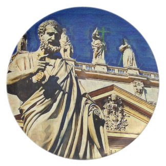 St Peter's Square Rome Party Plate