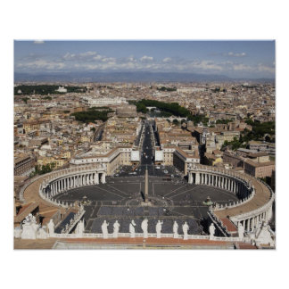 St Peters Square, Rome Poster