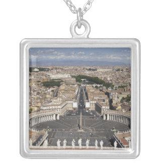 St Peters Square, Rome Square Pendant Necklace