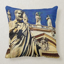St Peter's Square Rome Throw Pillows