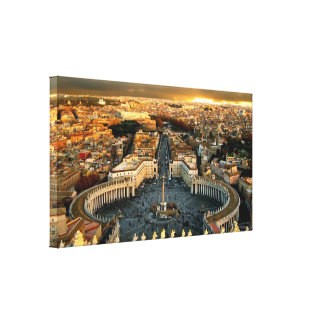 St. Peter's Square Vatican City Gallery Wrap Canvas