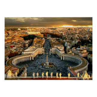 St. Peter's Square Vatican City Poster