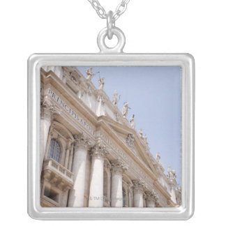 St Peter's Square, Vatican City, Rome, Italy Square Pendant Necklace
