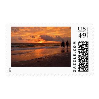 St. Petersberg, sello de la puesta del sol de FL