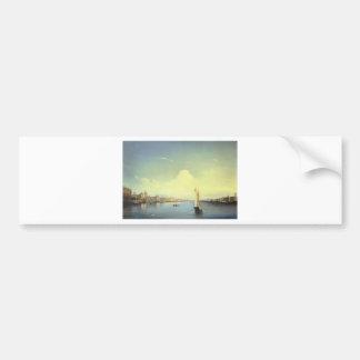 St. Petersburg at Sunset by Alexey Bogolyubov Bumper Sticker