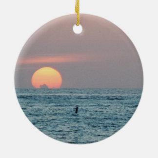 St Petersburg Beach Florida Sunset Ceramic Ornament