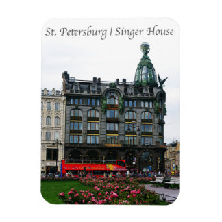 St Petersburg, casa del cantante Rectangle Magnet