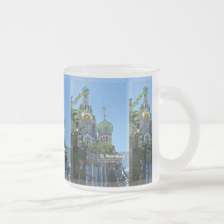 St. Petersburg, Church of the Savior on Blood Frosted Glass Coffee Mug