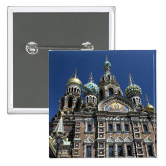 St Petersburg church, Russia Pinback Button