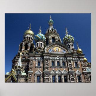 St Petersburg church, Russia Poster