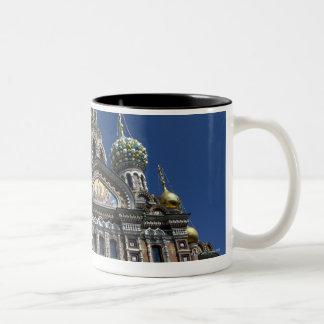 St Petersburg church, Russia Two-Tone Coffee Mug