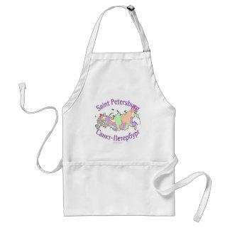 St. Petersburg City Russia Map Adult Apron
