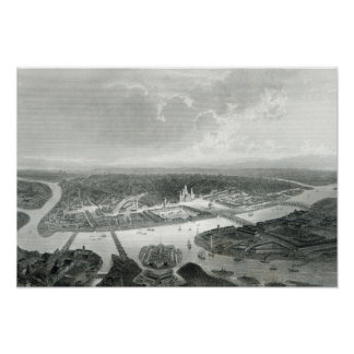 St.Petersburg, engraved by S.Bradshaw, c.1860 Poster