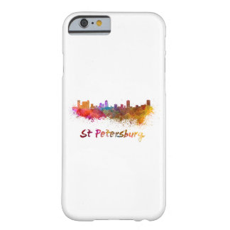 St Petersburg FL skyline in watercolor Barely There iPhone 6 Case