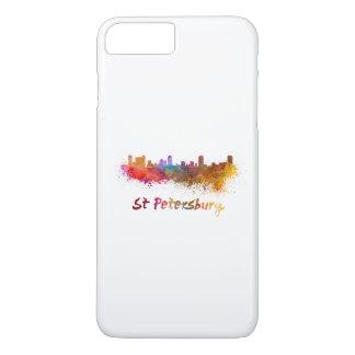 St Petersburg FL skyline in watercolor iPhone 8 Plus/7 Plus Case