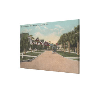 St. Petersburg, FL - View of Beach Dr & 5th Ave Canvas Print