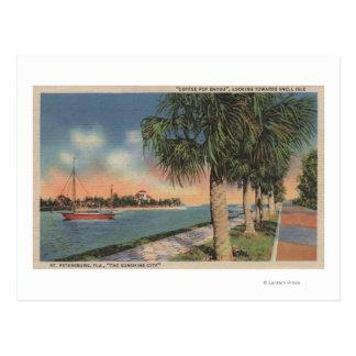 St Petersburg, FL - vista del pote del café Postal