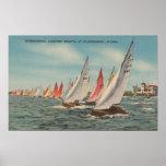 St Petersburg, FL - vista del Regatta del relámpag Posters