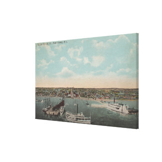 St. Petersburg, FL - Waterfront View with Canvas Print