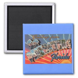 St. Petersburg Florida 2 Inch Square Magnet