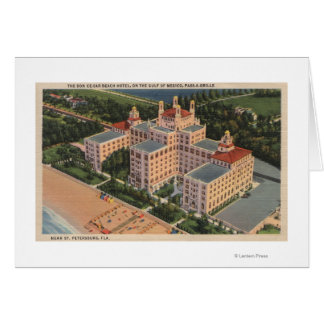 St. Petersburg, Florida - Aerial of Don Ce-Sar Card
