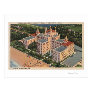 St. Petersburg, Florida - Aerial of Don Ce-Sar Postcard