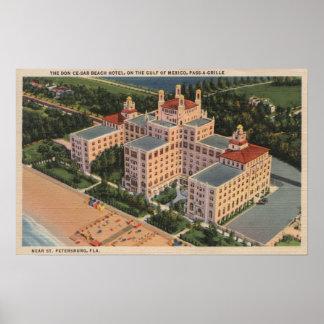 St. Petersburg, Florida - Aerial of Don Ce-Sar Poster