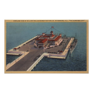 St. Petersburg, Florida - Aerial of Million Poster