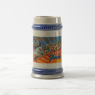 St Petersburg Florida FL Vintage Travel Souvenir Beer Stein