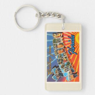 St Petersburg Florida FL Vintage Travel Souvenir Keychain