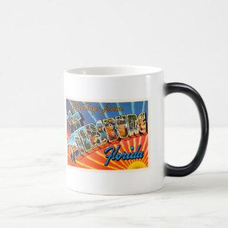 St Petersburg Florida FL Vintage Travel Souvenir Magic Mug