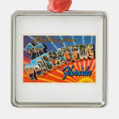 St Petersburg Florida Fl Vintage Travel Souvenir Metal Ornament at Zazzle