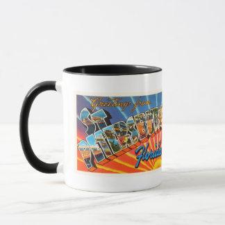 St Petersburg Florida FL Vintage Travel Souvenir Mug