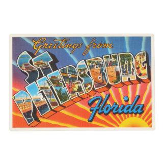 St Petersburg Florida FL Vintage Travel Souvenir Placemat