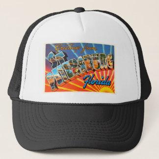 St Petersburg Florida FL Vintage Travel Souvenir Trucker Hat