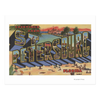 St. Petersburg, Florida - Large Letter Scenes 2 Postcard